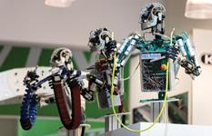 Robots at the Hannover Messe trade fair in Hanover, Germany, April 2014