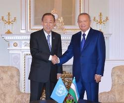 Пан Ги Мун и Каримов 12.06.2015г