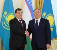 Мирзиёев и Назарбаев Госвизить в Казасхстан