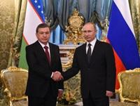 В.Путин и Ш.Мирзиёев