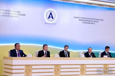Участники брифинга Туркмения 24.08.2018 г.
